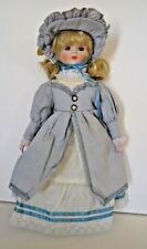"Vintage Bisque Porcelain Head, Hands,Legs, Feet 16"" Doll  Blonde Hair, Blue Eyes"