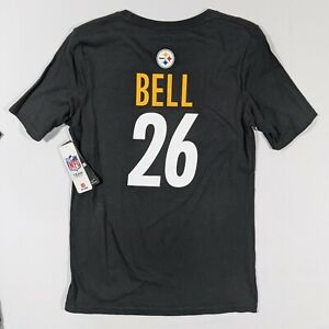 Leveon Bell Youth Boys Large L (10/12) Pittsburgh Steelers T Shirt NFL Jersey