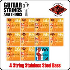 Rotosound Swing Bass 4 Cuerdas Bajo Eléctrico Cuerdas De Acero Inoxidable