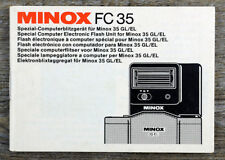 Manual de instrucciones Minox FC 35 equipo Blitz dispositivo para Minox 35 GL/el (x8068