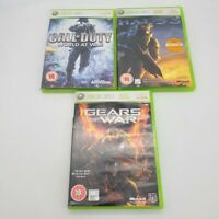 Halo 3, Gears Of War, Call Of Duty World War Xbox 360 PAL European LOT 3 GAMES