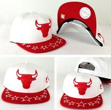 Mitchell & Ness Chicago Bulls White /Red Visor Stars Adjustable snapback Hat Cap