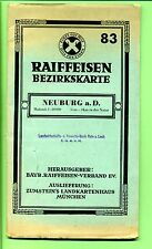 Neuburg a.D. -- Landkarte -- Raiffeisen Bezirkskarte - 83 -- Maßstab 1: 80 000 -
