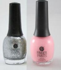 LOT FingerPaints Nail Polish BRUSHSTROKE BLUSH & SILVER BELLS