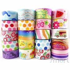 "20X1 Yard Assorted Cartoon Grosgrain Ribbon Lot 20 Styles 1""25mm Craft Packing"