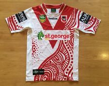 ST GEORGE ILLAWARRA DRAGONS 2013 PLAYER MATCH ISSUED #1 SHIRT JERSEY LARGE