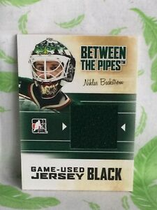 In The Game NHL Card Jersey Black Niklas Backstow Minnesota Wild 2010/11 - PI1-3