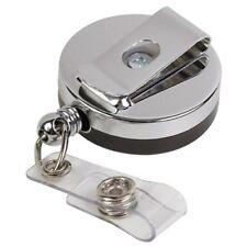 Baumgartens Heavy-duty I.d Card Reel With Belt Clip - Plastic - 1 (bau68814)