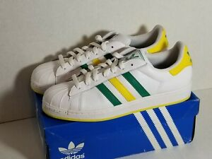 Adidas SUPERSTAR LTO G43737 Green & Yellow US Sz. 10 w/ Box Excellent Condition