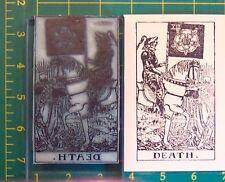 UM Tarot Card rubber stamp #13 Death full size