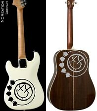 Blink 182 Guitar Vinyl Stickers Punk Rock Band Drums Bass Guitar Stickers (x2)