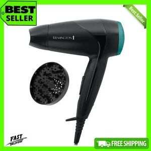 Remington Hair Dryer Compact Travel with Diffuser & Folding Handle 2000W - D1500