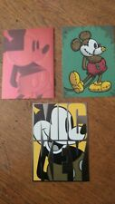 LOT OF 3 Disney Mickey Mouse Blank Greeting Cards