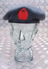 Auténtico British Military Qaranc Azul Gris Boina Lana Rojo Gota DESGARRADA