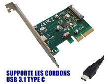 PCIE USB 3.1  - 10 GB - 1 port sur equerre arrière - TYPE C - Chipset ASM1142