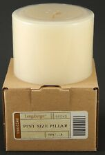 Longaberger Pint Size Pillar Scented Candle Vanilla #90040 New In Box