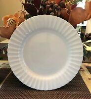 J&G Meakin Classic White Scalloped Design Dinner Set of 4-Eng. Ironstone