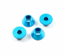 8pcs 4mm Aluminum Alloy (T6061) Cone Washer Φ4xD12xH5mm, Blue US TH016-03902B