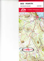 Penrith (NSW)  9030 1:100,000  topographic map  New free worldwide airmail