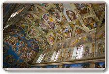 Sixtina Chapel CIUDAD DEL VATICANO Imán de Nevera