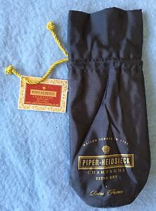 New Dark Gray Insulated Champagne Or Wine Cooler Bag Piper Heidsieck