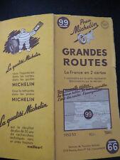 Carte michelin jaune  99 grandes routes  1952 53