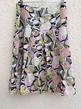Laura Ashley Floral Cotton/Silk  Skirt Sz 10