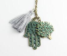 Halskette Hand der Fatima Hamsa 66 cm bronze Gl��cksbringer Geschenk