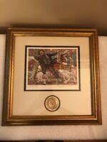 Signed Lithograph Leighton Jones Emmett Kelly Catch The Brass Ring