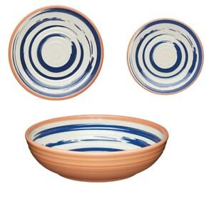 KitchenCraft Lulworth Melamine Dinner or Snack Plate or Bowl