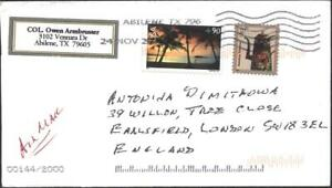 Mailed cover with stamps Views Guam 2007 Alaska 2001 from US USA  avdpz