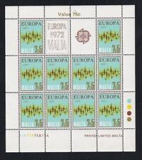 Malta Europa 1972 Communication 7.5¢ MNH pane of 10, sc#453  [149]