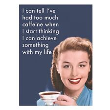 """Retro Humour """"I Can Tell I've Had Too Much Caffeine"""" Fridge Magnet Metal Novelty"""