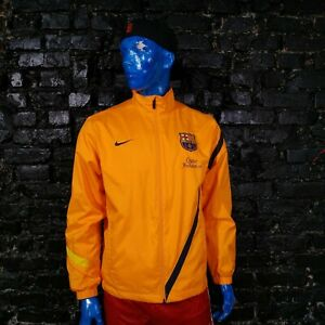 Barcelona Barca Training Jacket With Zipped Orange Nike 419891-802 Menы Size M