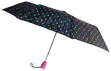 """Totes Automatic Umbrella 42"""" Polka Dot Large Auto Open Travel Compact Mini Folds"""