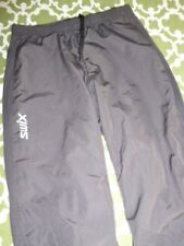 SWIX Women's S Soft Shell XC Ski Lined Pants Side Zip Hems Articulated Knees