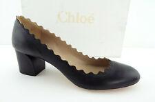 796706b2252a New CHLOE Size 9 LAUREN Scalloped Block Heels Pumps Shoes 39 1 2