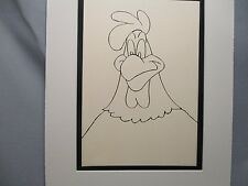 Foghorn Leghorn  Looney Tunes introduction portrait  from 1960,s. Line Drawing