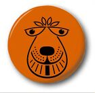 "Space Hopper Cara - 25mm 1"" Botón Insignia - Original Muy monos DIVERTIDO"