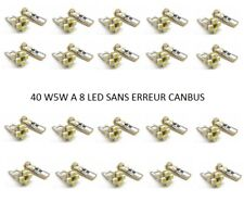 40 AMPOULE W5W T10 8 SMD SANS ERREUR CANBUS BLANC XENON