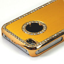 Crystal Diamond Cut Luxury Hard Back Case Cover For APPLE iPhone 4 4G Golden