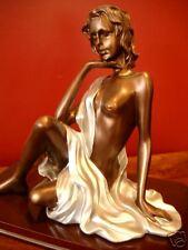 Kupfer Stil Frauen Akt sitzend Skulptur Kunst der 60er 70er Jahre Impressionen