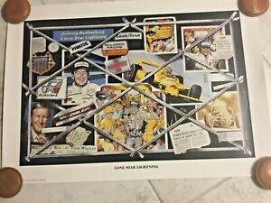 Indianapolis Indy 500 LONE STAR LIGHTNING Poster Print JOHNNY RUTHERFORD 1988