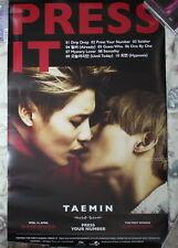"""SHINee Tae Min Vol. 1 Press It Taiwan Promo Poster (TAEMIN) 30""""X18"""""""