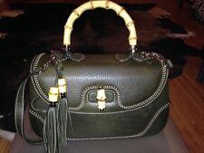 Olive Gucci Bamboo Bag