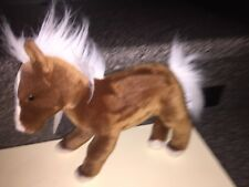 "Yomiko Classics Brown Palomino Horse Soft Plush Animal 12"" Nwt"