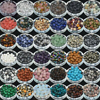 Lots 5/10/20/30/40Pcs Gemstone Round Loose Spacer Beads For Jewelry Making DIY