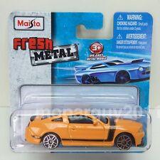 Maisto Fresh Metal Ford Mustang Boss 302 School Bus Yellow 1:64 Diecast