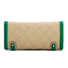 New Women Leather Evening Clutch Day Bag Wallet Wristlet Purse Handbag w/ Strap