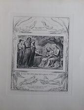 William BLAKE - La Charité - Gravure N&B - Livre de Job  - Bible #1902